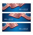 flag united states america 4th july banner vector image vector image