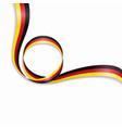 german wavy flag background vector image vector image