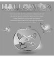 glass theme for halloween vector image vector image