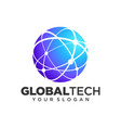 global tech logo design template vector image