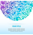 glowing colorful background vector image