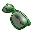 green sunglasses isolated on white vector image vector image