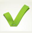 green tick vector image vector image