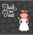 halloween character girl in angel costume on vector image