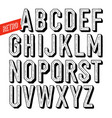 handmade retro dotshadow font black letters on vector image vector image