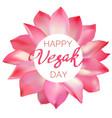 happy vesak day vector image