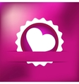 Heart gift present Valentines day EPS8 vector image