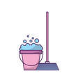 house broom with bucket vector image