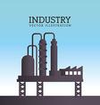 Industry design over blue background vector image