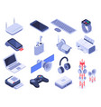 isometric wireless devices computer connect vector image