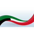 kuwait waving national flag modern unusual shape vector image vector image