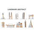 Landmark abstract icon