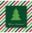 merry christmas greeting card with paper cut out vector image vector image