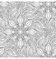 monochrome seamless pattern with mandala motifs vector image