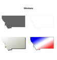 Montana outline map set vector image vector image