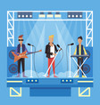 music pop or rock group cartoon vector image