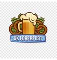 oktoberfest festival logo cartoon style vector image