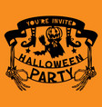 paper cut silhouette halloween party invitation vector image vector image