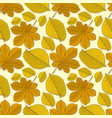 pattern with chestnut and elm autumn leaves vector image
