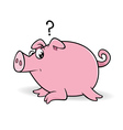pig wondering vector image vector image