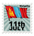 post stamp of national day of Mongolia vector image vector image