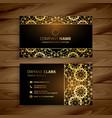 premium golden dark business card design vector image vector image