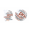 Printing Word Cloud vector image