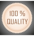 Quality guarantee sign vector image vector image