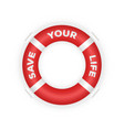 realistic 3d lifebuoy marine rescue lifeboat vector image