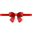 red gift bow for the holiday vector image vector image