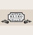 retro label and vintage element vector image vector image