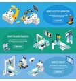 Robotic Surgery Isometric Banners vector image