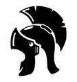 Roman helmet icon simple black style