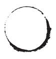round frame grunge textured hand drawn element vector image