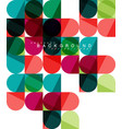 round square geometric shapes on white tile vector image vector image