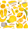 seamless pattern with yellow objects vector image vector image