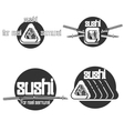 Set of vintage sushi emblems vector image vector image