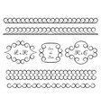 set vintage borders and vignettes vector image