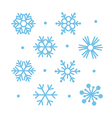 simple flat snowflakes vector image vector image