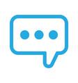 speech balloon icon vector image vector image