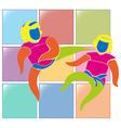 Sport icon for judo vector image