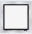 square black frame on a transparent background vector image vector image