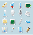 Sticker icons for science and education vector image vector image
