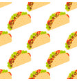 tacos seamless pattern mexican taco in wheat vector image vector image