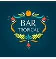 Template logo Tropical bar Oval frame of vector image vector image