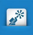 wand icon vector image