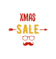 xmas sale typography overlay with arrow santa vector image vector image