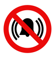No noise sign vector image