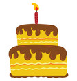 a beautiful painting two-layer yellow cake