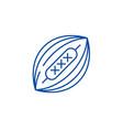 american football line icon concept american vector image